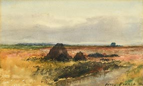 Percy French, Peat Stacks (1900) at Morgan O'Driscoll Art Auctions