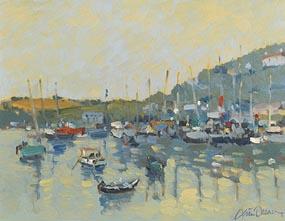 Liam Treacy, Harbour Scene at Morgan O'Driscoll Art Auctions