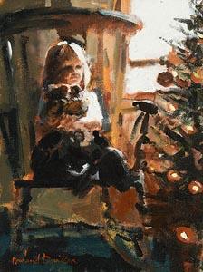 Rowland Davidson, Waiting for Santa at Morgan O'Driscoll Art Auctions