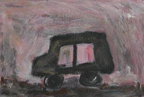 Basil Blackshaw, The Grey Car at Morgan O'Driscoll Art Auctions