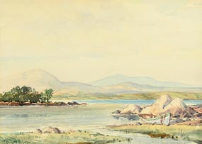 Frank McKelvey, Moored by the Shore at Morgan O'Driscoll Art Auctions