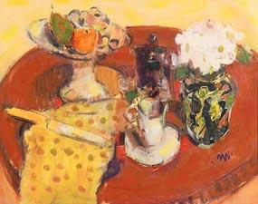 Gordon Bryce, Still Life with Majolica Jar at Morgan O'Driscoll Art Auctions
