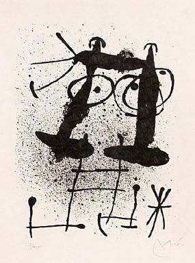 Joan Miro, Silencio (From Mai-Ku) (1967) at Morgan O'Driscoll Art Auctions