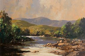 George K. Gillespie, The Owenmore River, Near Lenanne, Connemara at Morgan O'Driscoll Art Auctions