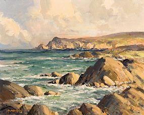 George Gillespie, Sybil Head, near Mount Brandon, beyond Ballyferriter, Co.Kerry at Morgan O'Driscoll Art Auctions