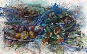 John Keating, Still Life - Fruit and Lilies (2001) at Morgan O'Driscoll Art Auctions