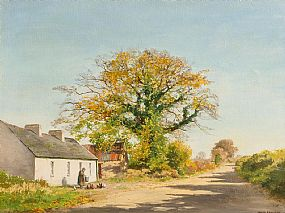 Frank Egginton, A Roadside Cottage, Co.Limerick (1979) at Morgan O'Driscoll Art Auctions