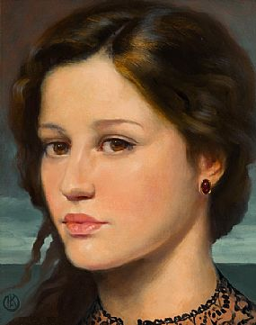 Ken Hamilton, An Irish Cailin at Morgan O'Driscoll Art Auctions