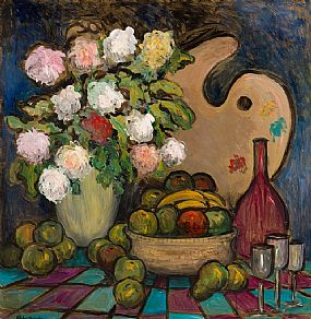 Gladys MacCabe, Still Life with Artist's Palette at Morgan O'Driscoll Art Auctions