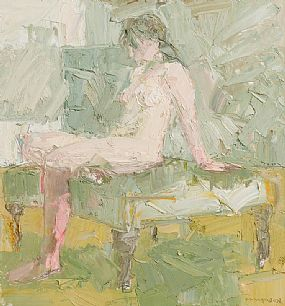 Colin Davidson, Seated Nude at Morgan O'Driscoll Art Auctions