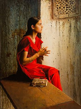 Stanislav V. Plutenko, The Girl in the Red Sari (2005) at Morgan O'Driscoll Art Auctions