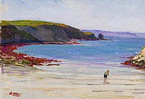 Hans Iten, Boy on the Beach, Co.Antrim at Morgan O'Driscoll Art Auctions