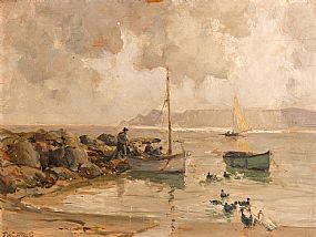 James Humbert Craig, Morning Cushendun, Co.Antrim (1937) at Morgan O'Driscoll Art Auctions