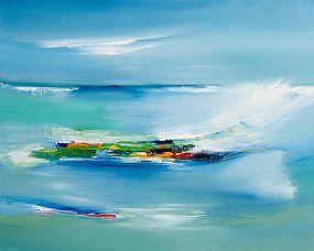 Majella O'Neill Collins, Rough Seas Sherkin at Morgan O'Driscoll Art Auctions