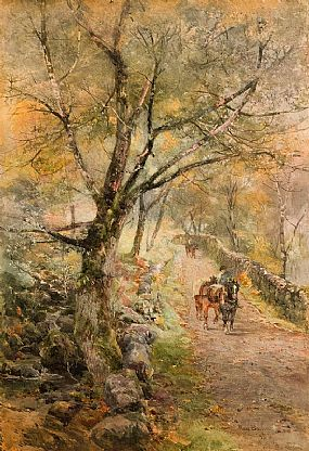 Rose Maynard Barton, On the Old Coach Road to Bangor (1905) at Morgan O'Driscoll Art Auctions