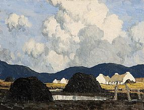 Paul Henry, The Village By The Bog (c.1934-1936) at Morgan O'Driscoll Art Auctions