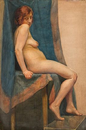 John Luke, Female Nude at Morgan O'Driscoll Art Auctions
