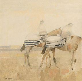Basil Blackshaw, Two Horses Excercising at Morgan O'Driscoll Art Auctions