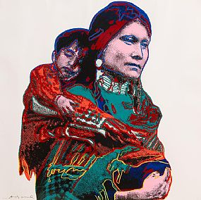 Andy Warhol, Mother and Child from Cowboys and Indians (1986) at Morgan O'Driscoll Art Auctions