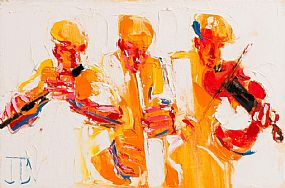 John Brian Vallely, The Three Musicians at Morgan O'Driscoll Art Auctions