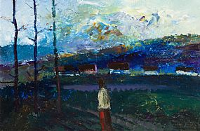 Daniel O'Neill, Landscape with Figure at Morgan O'Driscoll Art Auctions