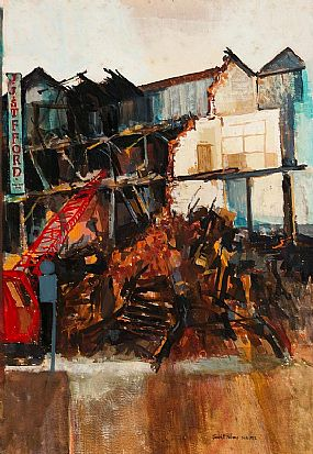 Joseph McWilliams, Demolition Old Belfast, Union Street (1972) at Morgan O'Driscoll Art Auctions