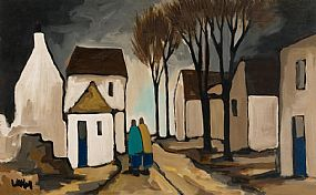 Markey Robinson, Strolling through the Village at Morgan O'Driscoll Art Auctions