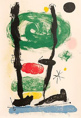 Joan Miro, Les Guetteurs (1964) at Morgan O'Driscoll Art Auctions