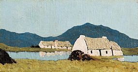 Paul Henry, Connemara Cottages (c.1930-5) at Morgan O'Driscoll Art Auctions
