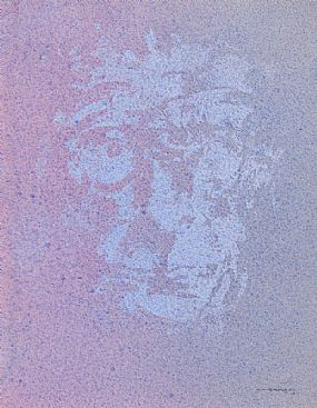 Louis Le Brocquy, Image of Samuel Beckett (1998) at Morgan O'Driscoll Art Auctions