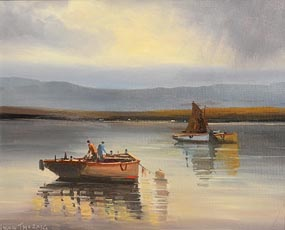 Norman J. McCaig, Corrib Fishing Boats at Morgan O'Driscoll Art Auctions