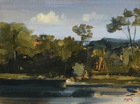 Martin Mooney, The Lake at Clandeboye (2000) at Morgan O'Driscoll Art Auctions