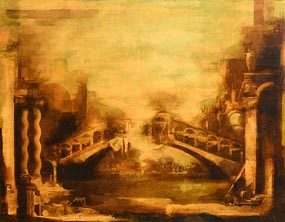 Martin Mooney, Ponte di Rialto (1989) at Morgan O'Driscoll Art Auctions