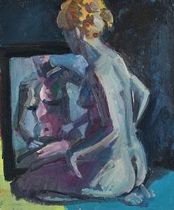 Brian Ballard, Seated Nude (2015) at Morgan O'Driscoll Art Auctions