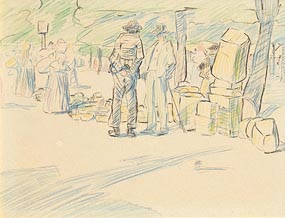 Mary Swanzy, People at the Market at Morgan O'Driscoll Art Auctions