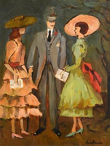 Gladys MacCabe, Race Day at Morgan O'Driscoll Art Auctions