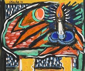 David Clarke, Candlelight (1950) at Morgan O'Driscoll Art Auctions