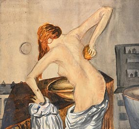 Christy Brown, Female Bathing at Morgan O'Driscoll Art Auctions