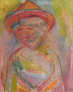 Stella Steyn, Man in Hat at Morgan O'Driscoll Art Auctions