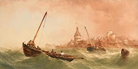 Alfred Herbert, Rough Seas off St Malo, France at Morgan O'Driscoll Art Auctions