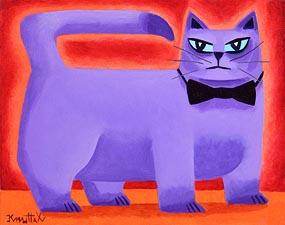 Graham Knuttel, Purple Cat at Morgan O'Driscoll Art Auctions