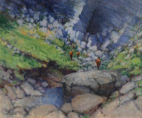 James English, Approaching the Rock Face at Morgan O'Driscoll Art Auctions