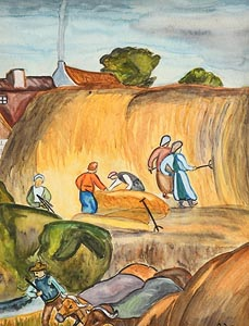 Christy Brown, Harvest Time at Morgan O'Driscoll Art Auctions