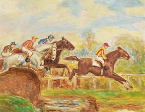 Gretta Bowen, Over The Jump at Morgan O'Driscoll Art Auctions