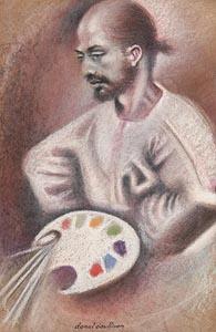 Donal O'Sullivan, Self Portrait at Morgan O'Driscoll Art Auctions