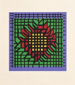 Victor Vasarely, Optical Composition (1980) at Morgan O'Driscoll Art Auctions