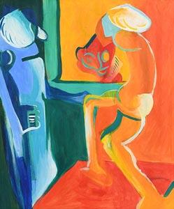 Tom Climent, Man Before a Mirror at Morgan O'Driscoll Art Auctions