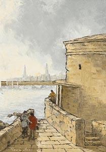 Tom Cullen, Evening Walk at Morgan O'Driscoll Art Auctions