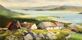 Kenneth Webb, Coastal Farmstead, West of Ireland at Morgan O'Driscoll Art Auctions
