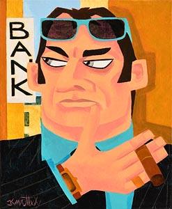 Graham Knuttel, The Banker at Morgan O'Driscoll Art Auctions